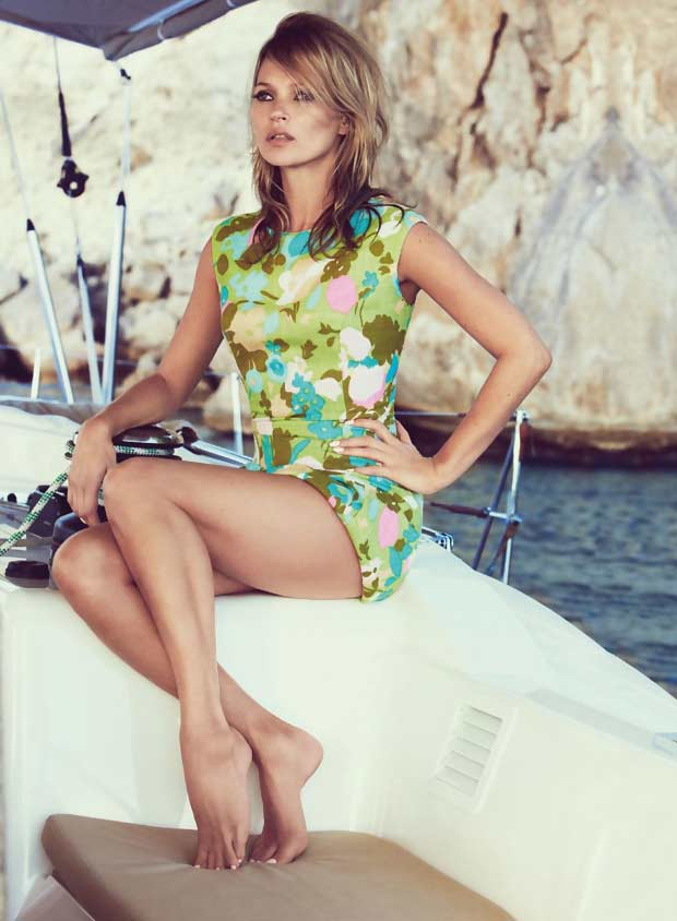 retro summer Kate Moss Vogue UK June 2013