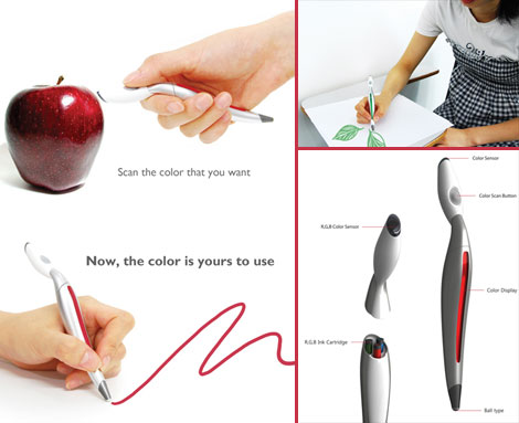 revolutionary color picker pen concept