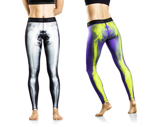 revolutionary workout tights Nike X Ray skeleton