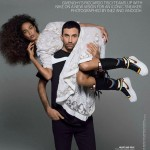 Riccardo Tisci Nike knee high sneakers Joan Smalls Vogue
