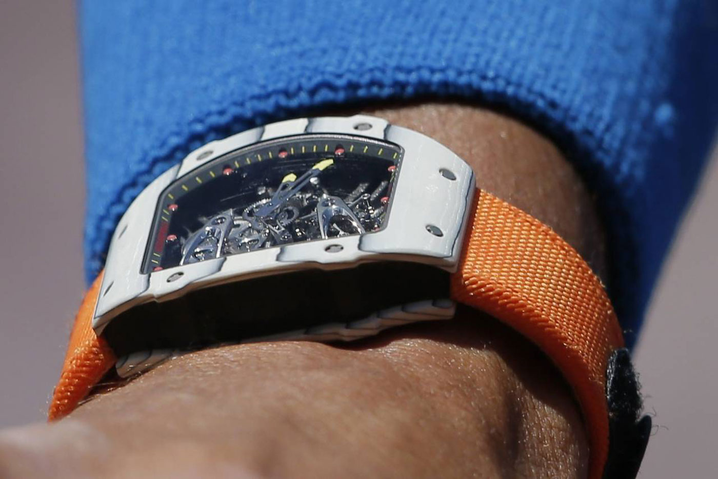 Richard Mille Tourbillon RM 27 02 Rafa Nadal watch orange strap