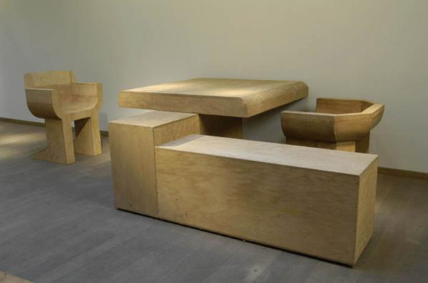 Rick Owens wood table