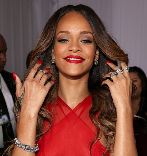 Rihanna 2013 Grammy Awards Neil Lane jewelry