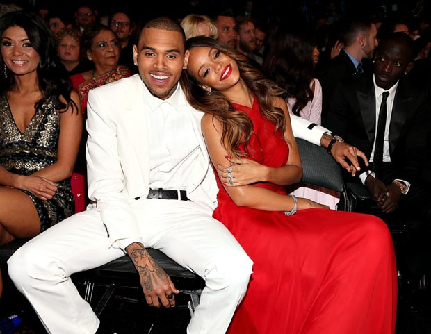 Rihanna 2013 Grammy Awards with Chris Brown