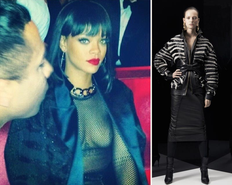 Celebrities Sheer Top Face-Off: Rihanna Fishnet Vs. Kim Kardashian Vienna Ball