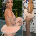 Rihanna CFDA 2014 sheer dress Swarovski