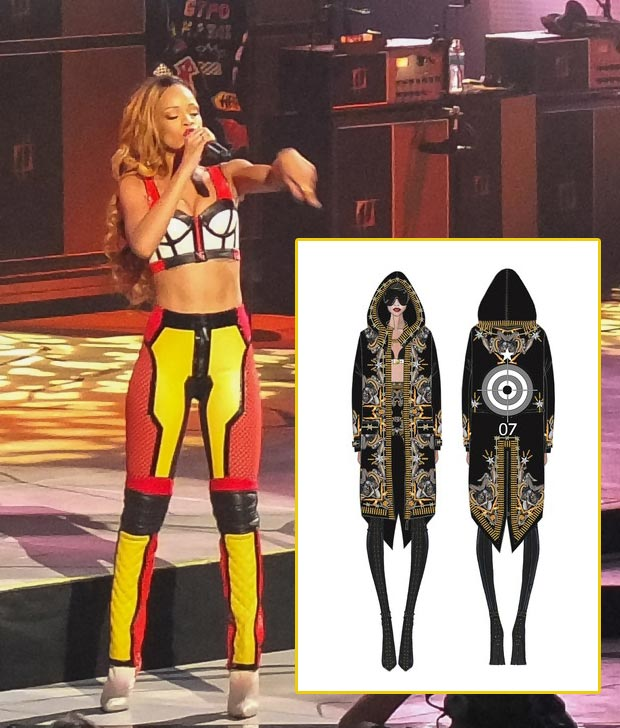RIhanna Diamonds World Tour Givenchy Wardrobe