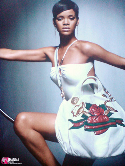 Rihanna Guci Unicef Collection Tattoo Heart ad