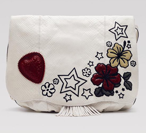 Rihanna Guci Unicef Collection Tattoo Heart clutch
