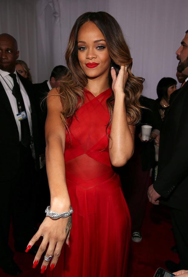 Rihanna jewelry 2013 Grammy Awards