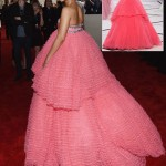 Rihanna pink Giambattista Valli Couture Grammy dress