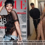 Rihanna see through Vogue cover outfit CFDA outfit