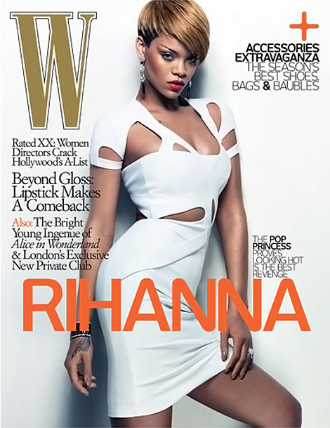 Rihanna W Magazine February 2010 cover