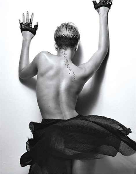 Rihanna W Magazine February 2010 tattoos