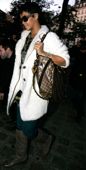 Rihanna with Gucci Babouska bag