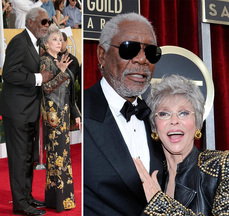 Rita Moreno Morgan Freeman 2014 SAG Awards