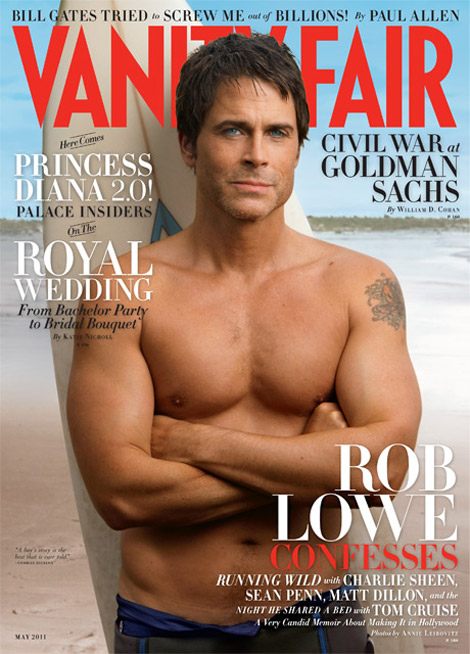 Rob Lowe Vanity Fair May 2011 cover