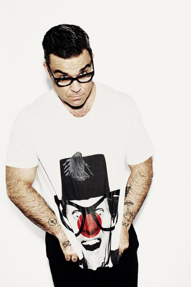 Robbie Williams Comic Relief Red Nose tee
