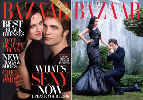 Robert Pattinson Kristen Stewart Harper s Bazaar cover