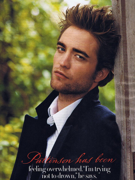 Robert Pattinson Vanity Fair december 2009