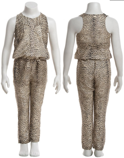 Roberto Cavalli Animal print jumpsuit girls