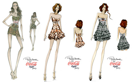 Roberto Cavalli Coca Cola light dresses