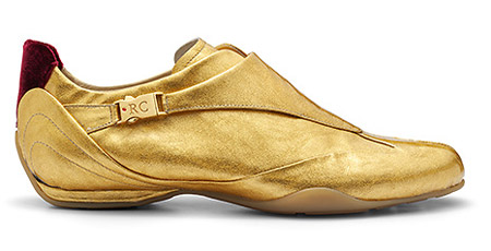 Roberto Coin gold sneakers