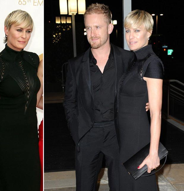 Robin Wright new haircut new man