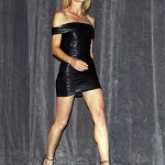 Robin Wright Penn leather dress