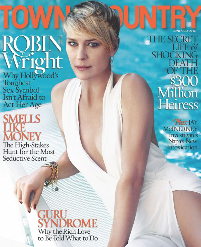 Robin Wright Town Country June 2014 cover