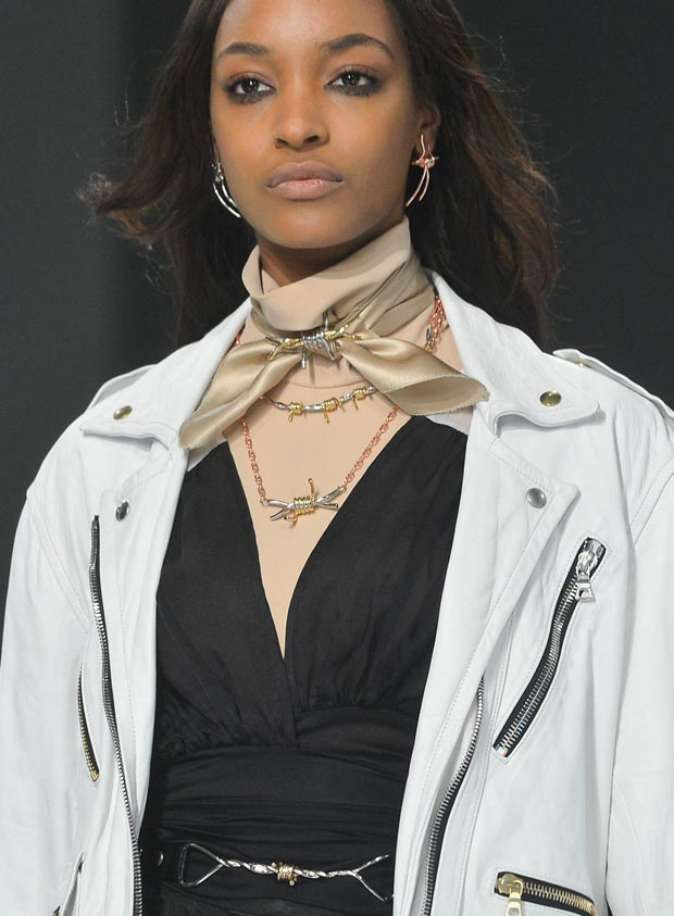 Rodarte Fall 2013 barb wire jewelry