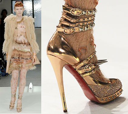 Rodarte shoes by Christian Louboutin for Rodarte fall winter 2008 2009