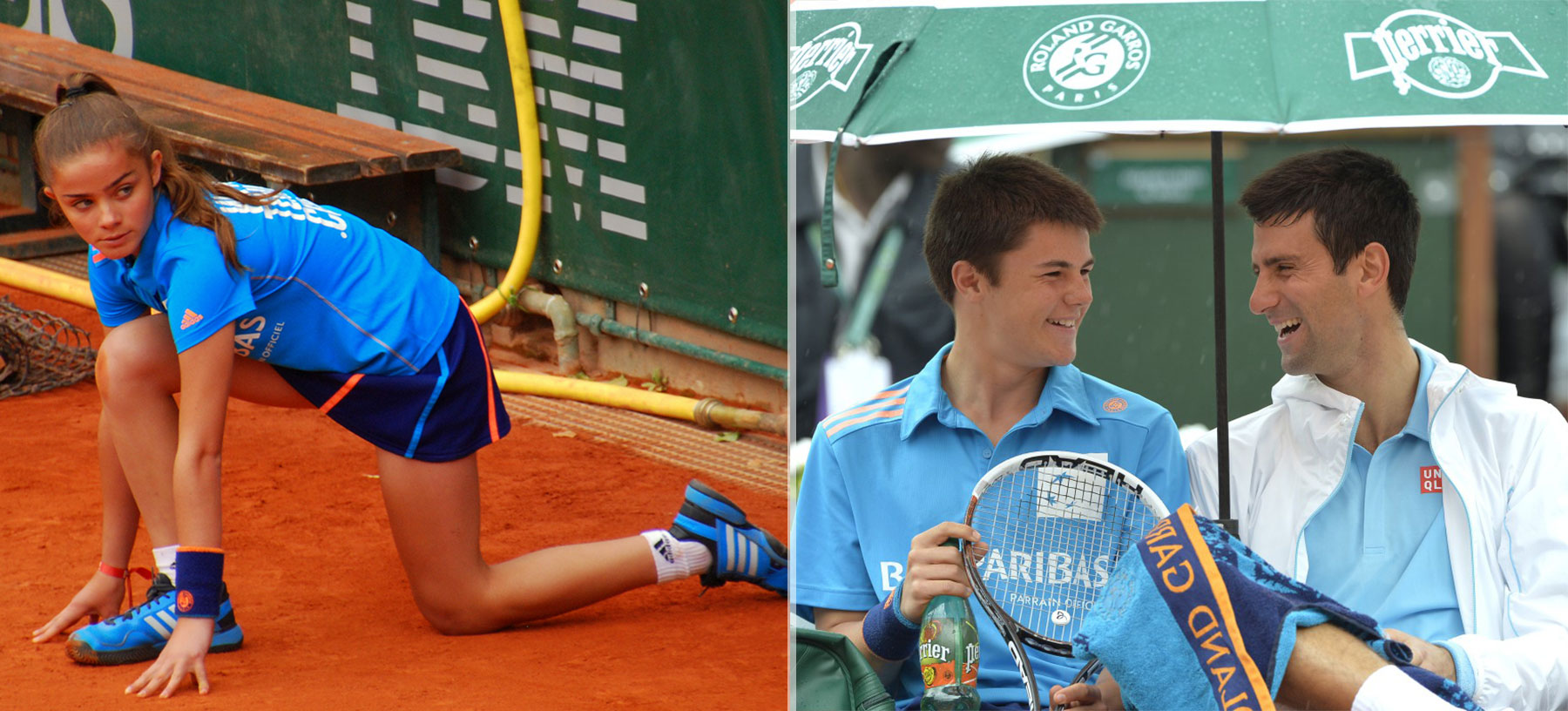Roland Garros 2014 ball girls boys adidas equipment Djokovic