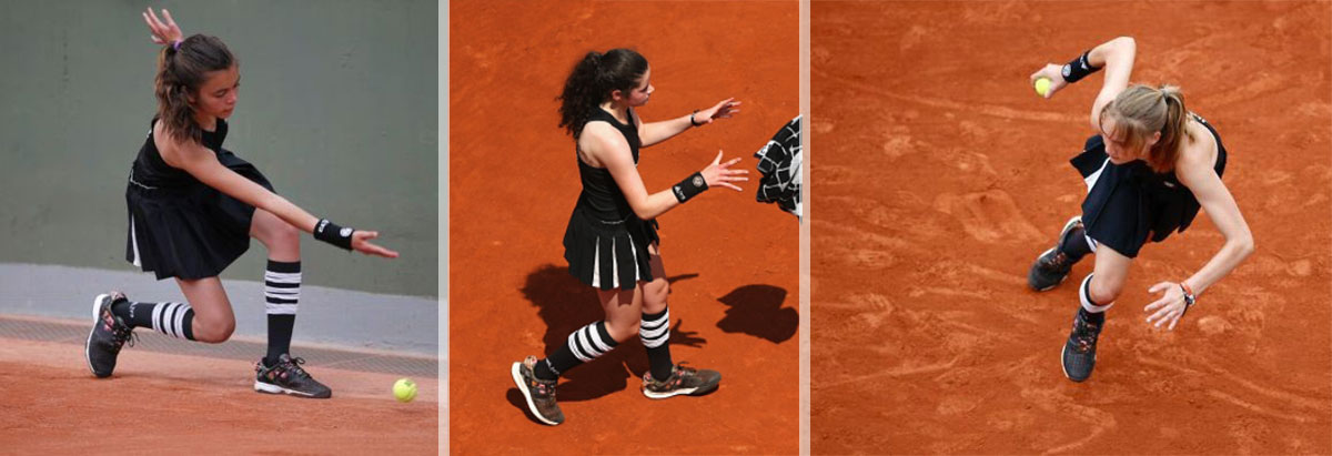 Roland Garros 2015 ball girls Adidas Y 3
