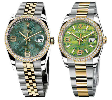 Rolex Datejust 2009 watches collection green