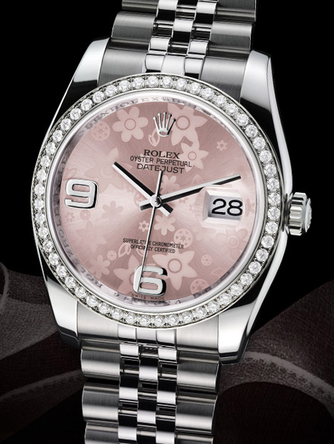 Rolex Datejust 2009 watches collection pink