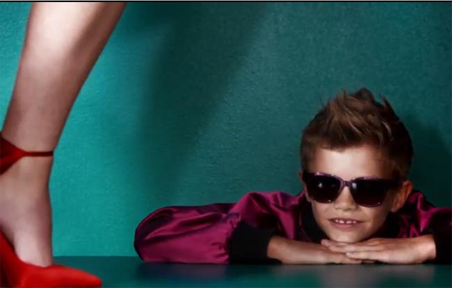 Romeo Beckham pops in Burberry campaign