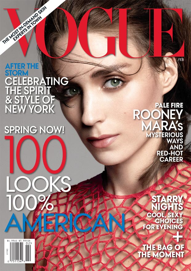 Rooney Mara Vogue US February 2013 cover