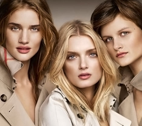 Rosie Huntington-Whiteley And Burberry Collaboration