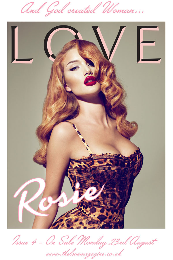 Rosie Huntington Whiteley Covers Love Four
