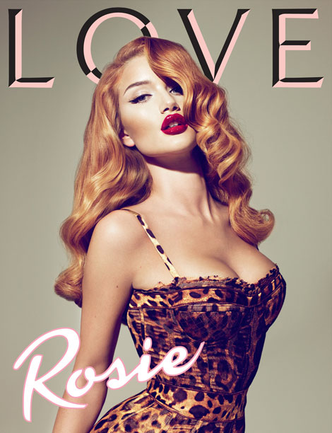 Rosie Huntington Whiteley Love Magazine four cover