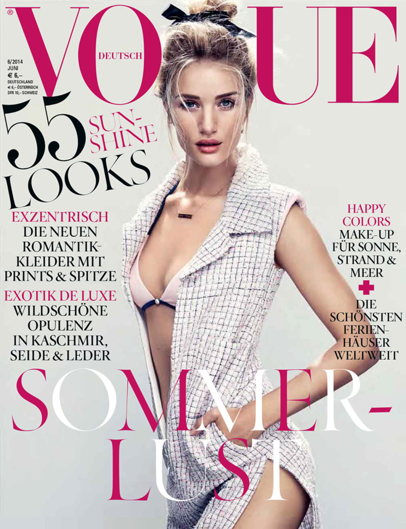 Rosie Huntington Whiteley Vogue Germany 2014 cover