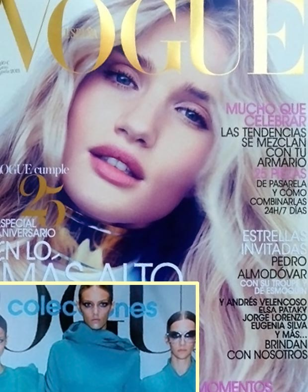 Rosie Huntington Whiteley Vogue Spain March 2013 cover