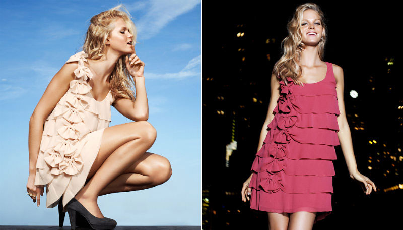 Night Out Affordable Dresses. Erin Heatherton&#8217;s H &#038; M By Night Campaign