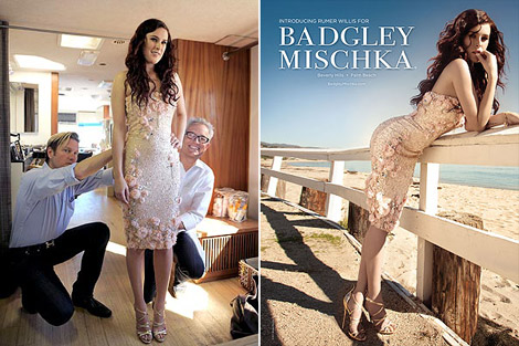 Rumer Willis Badgley Mischka Spring Summer 2011 ad campaign