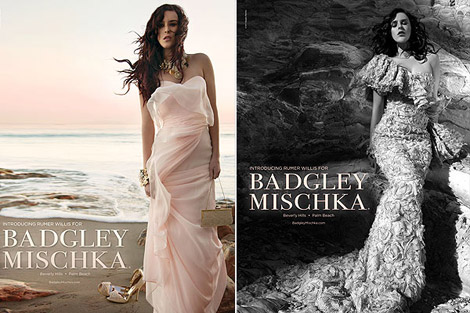 Rumer Willis Badgley Mischka Summer 2011 ad campaign