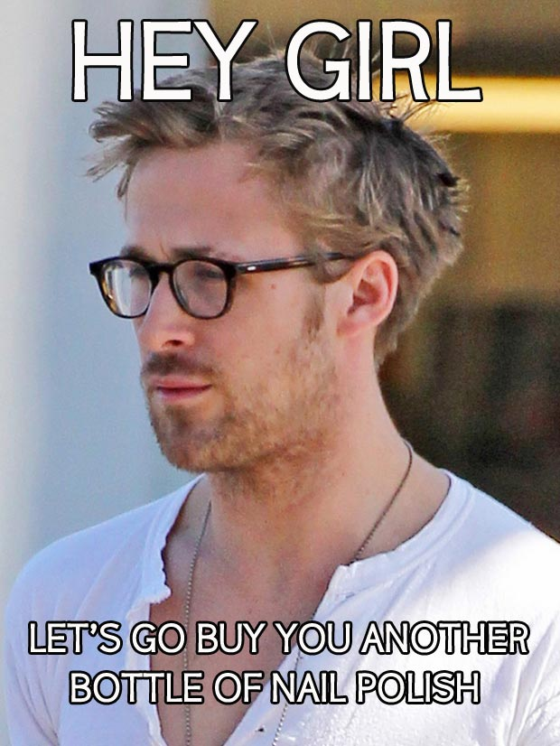 Ryan Gosling Hey Girl Nail Polish