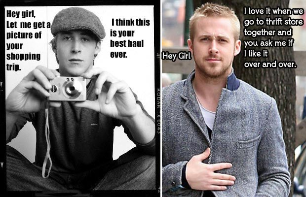 Ryan Gosling Hey Girl shopping