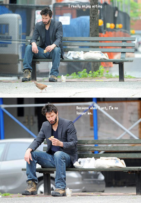 Sad Keanu Paparazzi photo