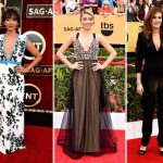 SAG Red Carpet cleavage Rashida Jones Emmanuel Ungaro Sarah Hyland Vera Wang Julia Roberts Givenchy